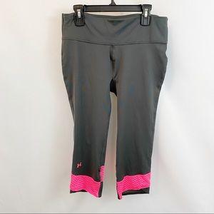 🌼Under Armour Yoga Capris Leggings Pink Gray